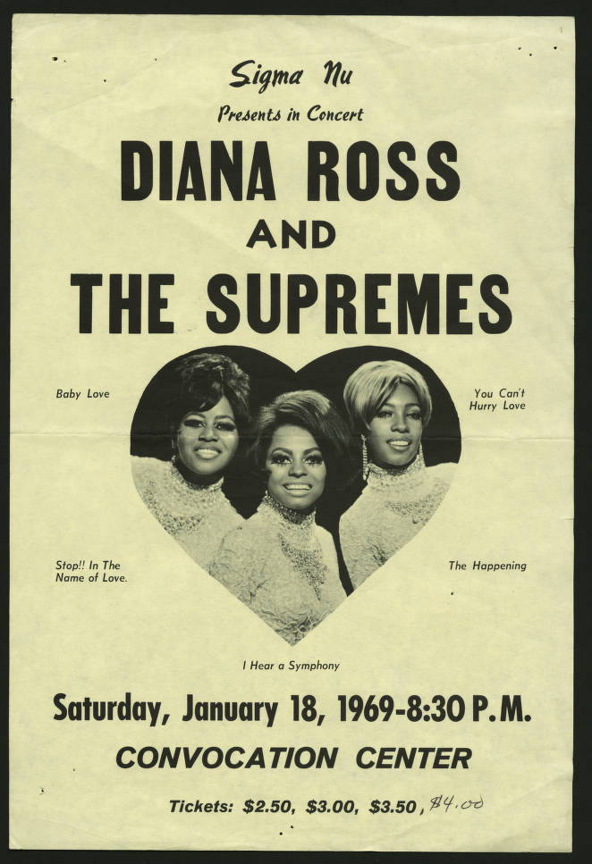 Vintage Diana Ross and The Supremes Concert Poster