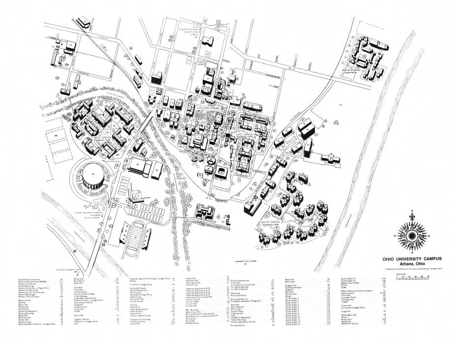 Ohio University Campus Map 1970 1971 Ohio University Archives